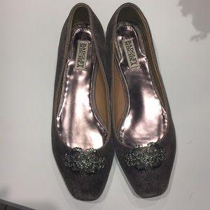 Badgley Mischka Shoes - Badgley Mischka silver ballet flats
